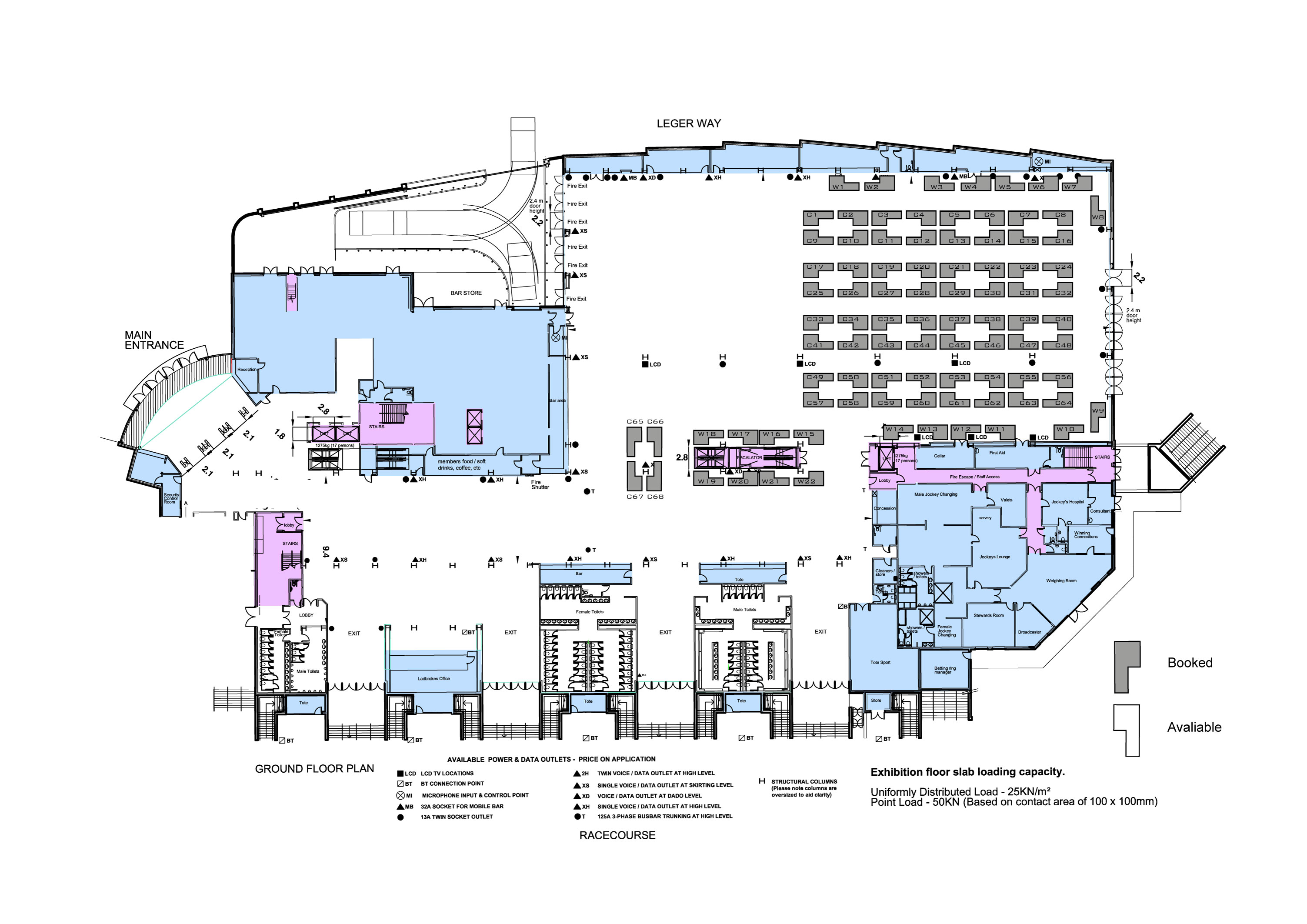 Doncaster racecourse traders floor plan