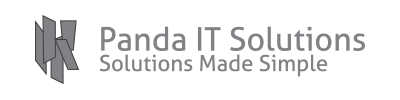 Panda It solutions logo vector