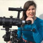 Sophie Aldred with large camera image