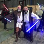 Grey Jedi order pair at an event