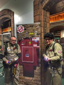 White rose ghostbusters with their version of the ghost prison