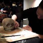 Pigeon Creek skull mould making demonstration