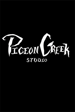 Pigeon Creek logo with black background