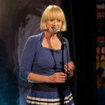 Hattie Hayridge attending a Q & A