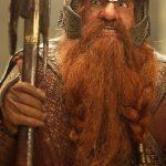 John Rhys-Davies in character as Gimli