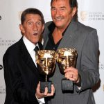 The Chuckle brothers collecting their BAFTA award