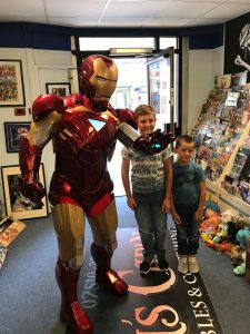 Iron man from Tru Entertainment showing of his skills