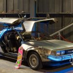 Back to the future DeLorean and marty's hover board