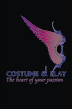 costume and play logo small in black