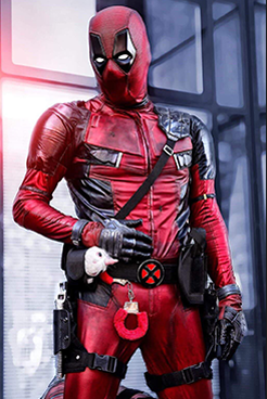 David-Platts- as Deadpool with pink cuffs