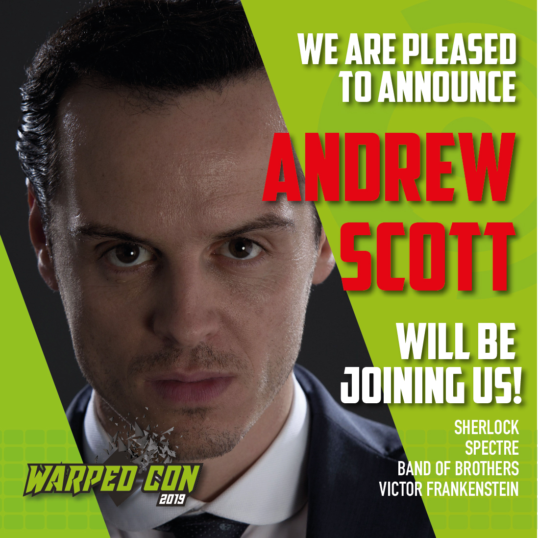 Andrew Scott guest image in green squared