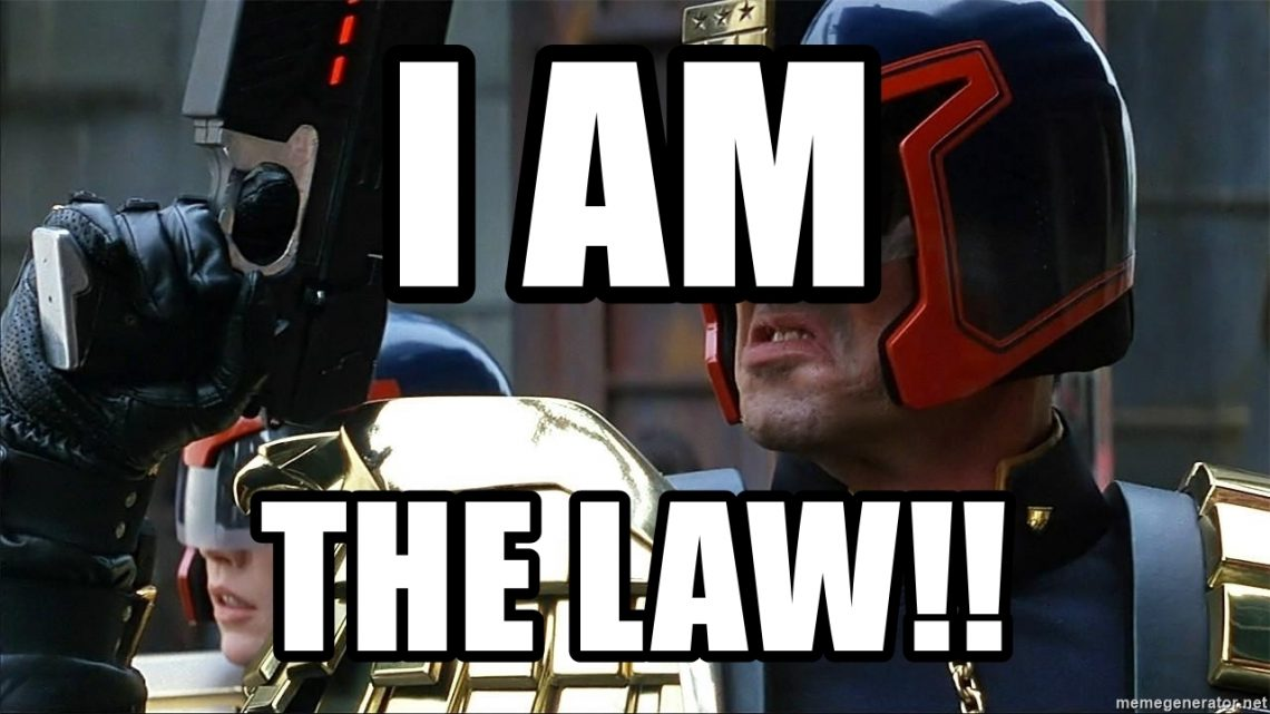 warped con etiquette and some rules laid down by Judge Dredd