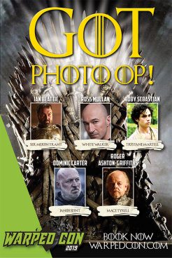 Game of Thrones Photo Op poster with Ian Beattie, Ross Mullan, Toby Sebastian, Dominic Carter, Roger Ashton-Griffiths