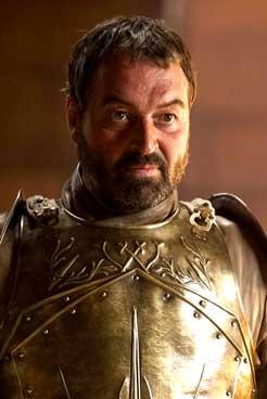 Ian Beattie as Ser Meryn Trant in HBO Series Game of Thrones