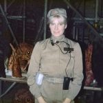 Tina Simmons dressed as rebel technician in Star Wars Episode VI Return of the Jedi